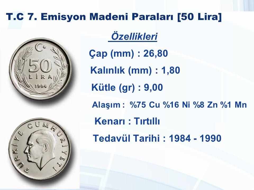 T.C 7. Emisyon Madeni Paraları [50 Lira]